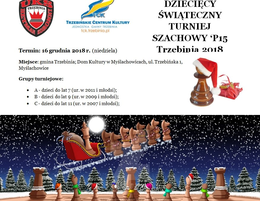 Dziecięcy Świąteczny Turniej Szachowy 'P15 Trzebinia 2018